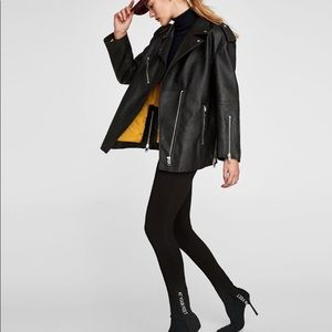 Zara biker oversized jacket